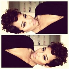 Wish i have curly hair so i can do this ugh .... curly undercut / mohawk-able / natural hair