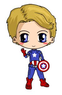 Captain America Chibi by IcyPanther1.deviantart.com on @deviantART