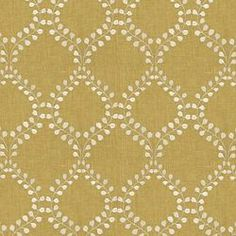 WINDING LEAVES - ROBERT ALLEN FABRICS GOLDENROD - master bathroom curtains