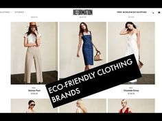 Sustainable Eco-Friendly Clothing Brands! / Vegan Clothing / Minimalist Capsule Wardrobe - YouTube