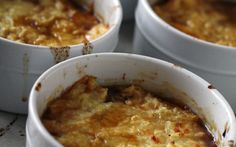 Onion Soup with Cheesy Cauliflower