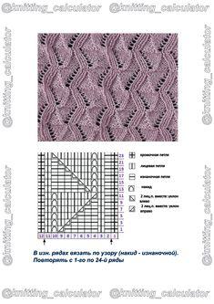 Einblicke in Funny`s bezaubernde Strickwelt. & Funny`s Strickmustersammlung Knitting Machine Patterns, Lace Knitting Patterns, Knitting Stiches, Knitting Charts, Knitting Designs, Stitch Patterns, Crochet Chart, Crochet Lace, Drops Design