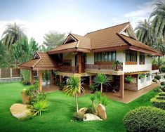 Photos Of Beautiful Wooden House Structure Design Asian House, Thai House, Bedroom Minimalist, Minimalist House Design, House Structure Design, Kerala Traditional House, Traditional Ideas, Traditional House Plans, Rest House