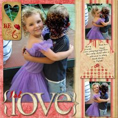 Free Scrapbooking Ideas : Valentine Layouts
