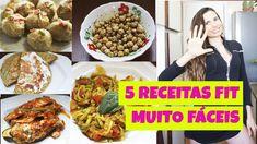 5 RECEITAS FIT MUITO FÁCEIS (com 2 receitas Low Carb) / COMIDA FITNESS -...