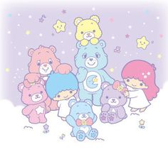 Sanrio Little Twin Stars and the Care Bears