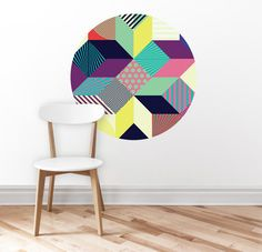 Wall sticker  Abstract circle oval  home decor  wall art by DURIDO