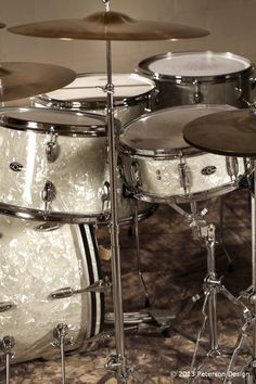 Great pics of Buddy Rich's 70s-era Slingerland kit by Peterson Design.