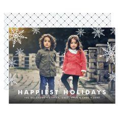 Snowflake Overlay | Holiday Photo Card