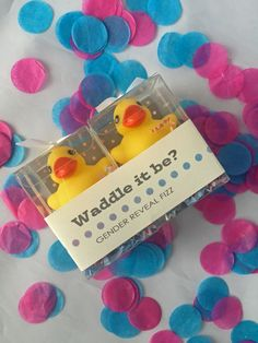 Waddle it Be Gender Reveal Rubber Duck Fizz: one pink by SosiaToGo