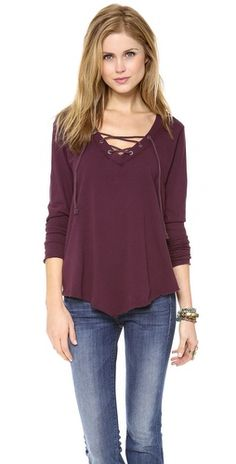 Free People Top like the lace up detail