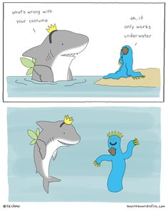 I can draw (sort of) © Liz Climo 2011 Funny Animal Comics, Cute Comics, Funny Animal Memes, Cute Funny Animals, Funny Comics, Witty Comics, Theodd1sout Comics, Stupid Funny, Haha Funny
