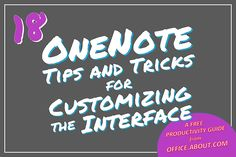 OneNote helps you get a lot done but also features several settings you can customize to maximize user experience.