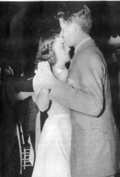 JFK dancing with Kathleen Kennedy. He once said 'Kick' was his favorite sister.
