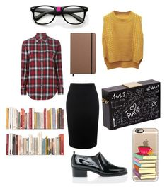 """Nerd day"" by b3ttyw3ldon on Polyvore featuring ZeroUV, WithChic, Yves Saint Laurent, Alexander McQueen, Casetify and Shinola"
