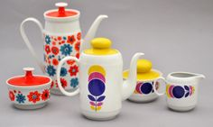 Coffee pots from West Germany and Poland, 1960's by robmcrorie