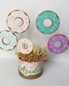 Throw a fun Donut Party for friends and wow them with your DIY Donut Decorations! All projects include step by step tutorials. Donut Party, Donut Birthday Parties, Girl 2nd Birthday, First Birthday Themes, First Birthdays, Birthday Ideas, Donut Decorations, Surprise Party Decorations, Grown Up Parties