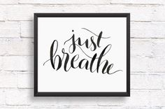 Learn to breathe quotes vector