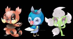 GEN 3 STARTERS by Shadesofcool on DeviantArt