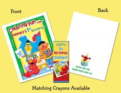 92 best Personalized Coloring Book and Crayon Favor Set images on ...