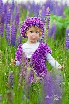 Beautiful Little Girl in Purple