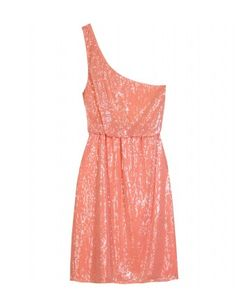 sequined one shoulder dress, oh my!