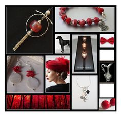 """""""Flaming Red"""" by inspiredbyten ❤ liked on Polyvore featuring vintage"""