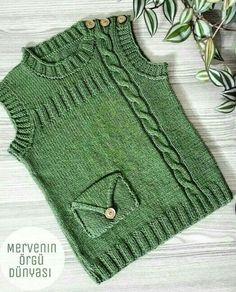 Diy Crafts - happy,markets-I came to happy peaceful markets with new color and model trials. Baby Knitting Patterns, Baby Sweater Knitting Pattern, Knit Baby Sweaters, Baby Hats Knitting, Easy Knitting, Knitting For Kids, Knitting Designs, Knitted Hats, Knit Vest