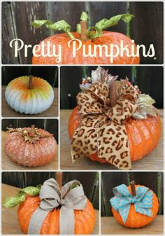 Don't Mess With My Tutus! : Dryer Vent Pumpkins!