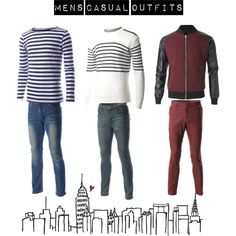 """Casual outfits #16"" http://www.flatsevenshop.com/ #mens fashion #menswear #casual #outfits #jeans #jackets #shirts #pants #mens clothes"