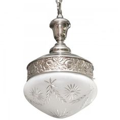 Große Jugendstil-Pendelleuchte QUINQUE ECCLESIAE von Art Nouveau Lamps - Foto