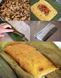 """Step-by-step Tutorial for """"Pasteles de Yucca"""" by Noshery, switch oil & eliminate beans for Paleo Puerto Rican Cuisine, Puerto Rican Recipes, Vegan Recipes Easy, Organic Recipes, Mexican Food Recipes, Cooking Recipes, Comida Boricua, Boricua Recipes, Comida Latina"""