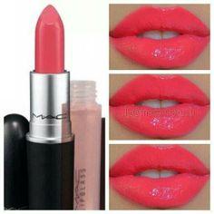 M•A•C Coral Lipstick