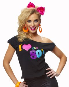 80s Fashion For Women T Shirts Cute Shirt for s Pop Costume