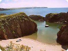 The Mermaid Pool. Burgh Island, Devon, England.