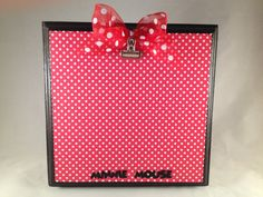Disney Minnie Mouse Photo Wood Block Frame by nay7772 on Etsy, $18.00