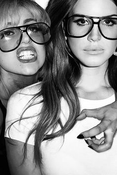 Lana Del Rey and Gaga...not a fan of gaga but this is still pretty cool