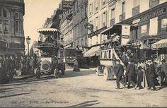 L'animation de la rue d'Amsterdam, vers 1905.