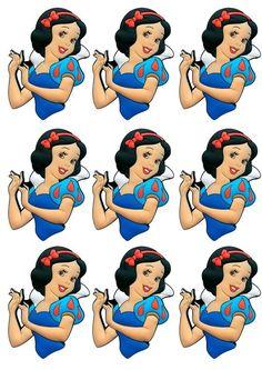 APLIQUE PARA TUBETE: Disney Princess Birthday, Princess Theme, Girl Birthday, Princess Cupcake Toppers, Disney Princess Cupcakes, Snow White Birthday, Prince Party, Party Themes, Kids