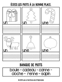 Cahier de temps libre de Noël | Les créations de Stéphanie Core French, French Class, Amelie Pepin, French Worksheets, Becoming A Teacher, French Immersion, Classroom Inspiration, Learn French, Teaching Tools
