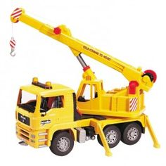 Bruder MAN TGA Crane Toy Truck $69.97 This toy crane truck by Bruder with all its cool functions and features is your boy's dream toy gift. http://www.educationaltoysplanet.com/bruder-man-tga-crane-toy-truck.html