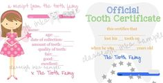 Tooth Fairy Notes PRINTABLE FILE www.classeighinks.com