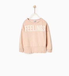 Feelings sweatshirt-SWEATSHIRTS-GIRL | 4-14 years-KIDS | ZARA Belgium