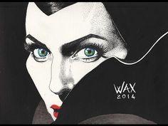 Maleficent (Angelina Jolie) - Speed Drawing Malefica