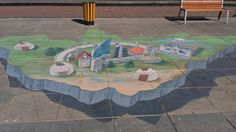 3D street art in Ulaanbaatar. Why not visit this beautiful and diverse country? http://mongoliansecrethistory.mn/let-us-show-you-our-secrets/