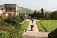 Ilam Hall and Italian Gardens, Ilam Park, Ilam, Peak District, England