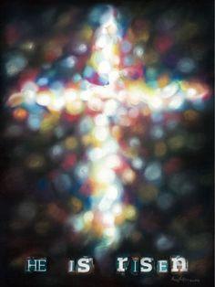 He is risen Old Rugged Cross, He Is Alive, Jesus Resurrection, Jesus Art, Easter Season, Bible Words, He Is Risen, Holy Week, Jesus On The Cross