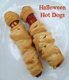 Crescent Halloween Mummy Hot Dogs Recipe
