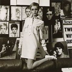 Twiggy  perfect model for the 1960's inspiration - Mini Skirt!