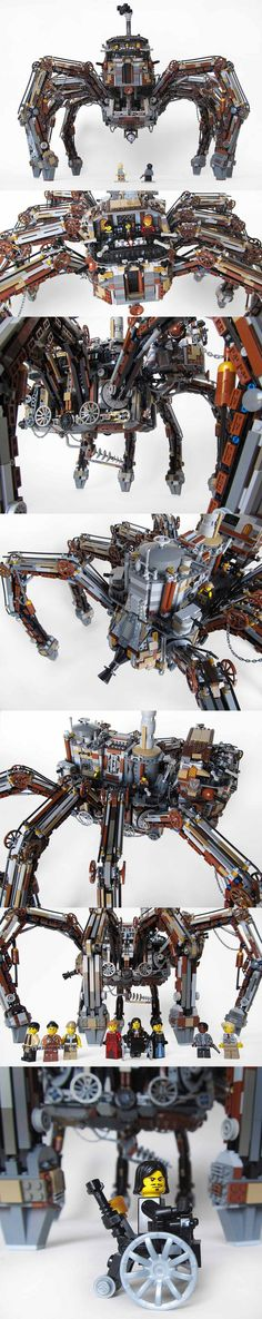 Wild Wild West (Loveless's spider) : amazing #Lego #Steampunk by Imagine Rigney